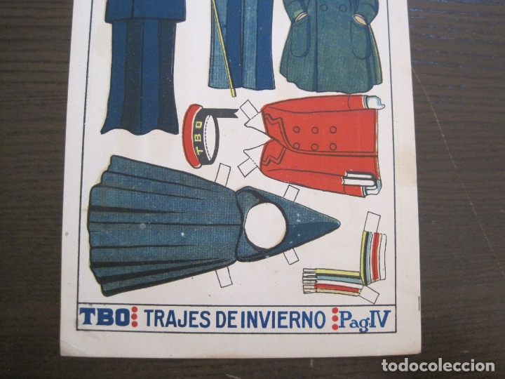 Coleccionismo Recortables: RECORTABLE MUÑECA-AÑOS 20-TBO-TRAJES DE INVIERNO-PAG IV-ORIGINAL-VER FOTOS-(V-17.577) - Foto 4 - 175778449