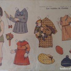 Coleccionismo Recortables: CONSTRUCCIONES EL NIÑO COLECCION 25 LOS VESTIDOS DE CLOTILDE Nº 4 48X35,5 CM. Lote 175785797