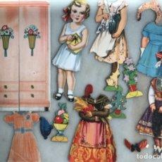 Coleccionismo Recortables: RECORTABLES DE MUÑECA BLANQUITA GOLOSA, MIS BEBÉS Y SU ARMARIO ROPERO. Lote 175899807