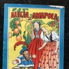 Coleccionismo Recortables: TEBEO COLECCION BLANCANIEVES Nº 15 ALICIA Y AMAPOLA, BRUGUERA RECORTABLE MARINA BOMBON. Lote 175961557