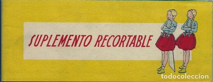 CR046- MARI-PEPA Y LAS GEMELAS Nº 31 -SUPLEMENTO RECORTABLE - MARIA CLARET (Coleccionismo - Recortables - Muñecas)