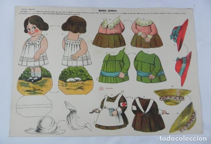 RECORTABLE DE MARIA JOSEFA. EDITORIAL LA TIJERA. SERIE 25. NUM. 20. MIDE 50 X 35 CM. (Coleccionismo - Recortables - Muñecas)