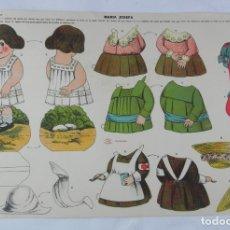Coleccionismo Recortables: RECORTABLE DE MARIA JOSEFA. EDITORIAL LA TIJERA. SERIE 25. NUM. 20. MIDE 50 X 35 CM.. Lote 176149639