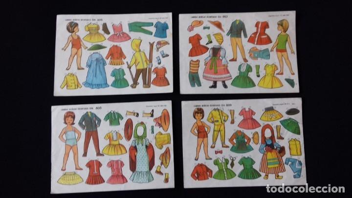LOTE DE 4 HOJAS DE RECORTABLES EVA DE MUÑECAS. AÑO 1962. (Coleccionismo - Recortables - Muñecas)