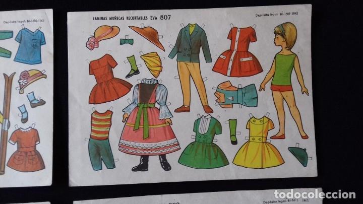 Coleccionismo Recortables: LOTE DE 4 HOJAS DE RECORTABLES EVA DE MUÑECAS. AÑO 1962. - Foto 8 - 176860668