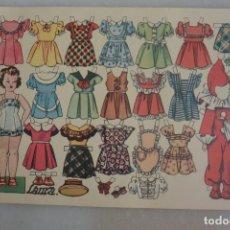 Coleccionismo Recortables: RECORTABLE DE MUÑECAS LAURA OBSEQUIO FLORITA. Lote 177273145