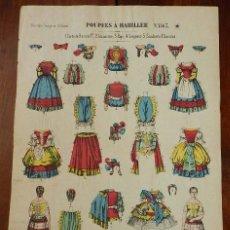 Coleccionismo Recortables: RECORTABLE DE MUÑECAS PARA VESTIR, NOUVELLE IMAGERIE D´EPINAL, POUPÈES A HABILLER Nº 863, LITH, OLIV. Lote 177367703