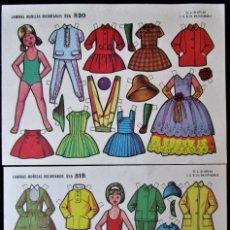 Coleccionismo Recortables: RECORTABLE MUÑECAS EVA (MARISA Y PEPITA) EDITORIAL VASCO-AMERICANA 1964. Lote 178248833