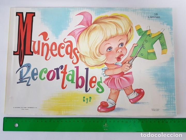 LIBRETA 50 LAMINAS MUÑECAS RECORTABLES / TAMAÑO GIGANTE 43 X 28 CMS./ ORIGINAL 1971 / NUEVO!!! (Coleccionismo - Recortables - Muñecas)