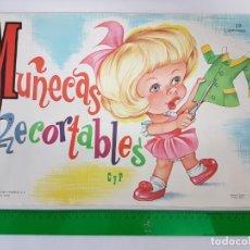 Coleccionismo Recortables: LIBRETA 50 LAMINAS MUÑECAS RECORTABLES / TAMAÑO GIGANTE 43 X 28 CMS./ ORIGINAL 1971 / NUEVO!!!. Lote 181152865