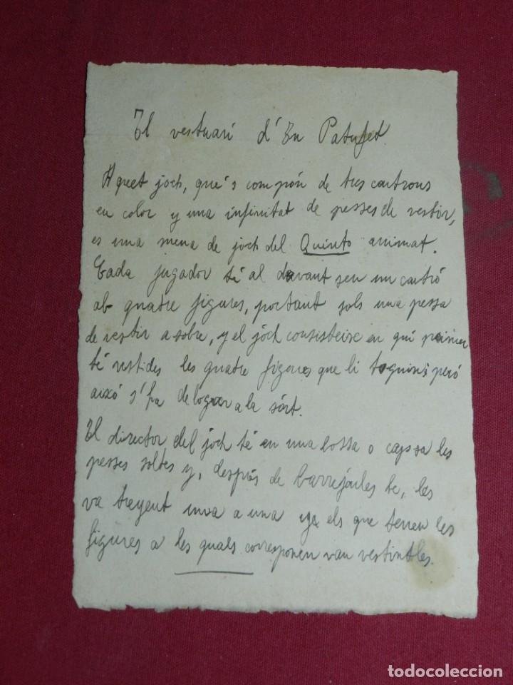 Coleccionismo Recortables: (M) RECORTABLE DE LA LOLA ANGLADA - EL VESTUARI D'EN PATUFET, COMPLETO Y MUY DIFICIL - Foto 8 - 181467557