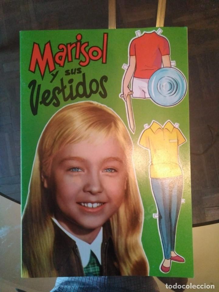 MARISOL Y SUS VESTIDOS LIBRITO CON MUÑECAS RECORTABLES 1961 (Coleccionismo - Recortables - Muñecas)