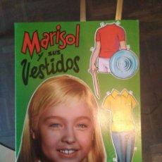Coleccionismo Recortables: MARISOL Y SUS VESTIDOS LIBRITO CON MUÑECAS RECORTABLES 1961. Lote 183254331