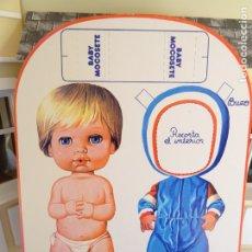 Coleccionismo Recortables: RECORTABLE MUÑECAS VINTAGE - BABY MOCOSETE - BUZO. Lote 183263423