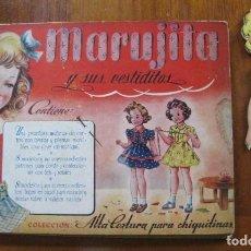 Coleccionismo Recortables: BONITO CUENTO MARUJITA Y SUS VESTIDITOS CON MUÑECA FIGURIN , PATRONES ED MOLINO . Lote 183389888