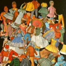 Coleccionismo Recortables: GRAN LOTE RECORTABLES DE MUÑECAS (AÑOS 50-60) + DE 125 PIEZAS RECORTADOS DE VARIAS LÁMINAS - MARISOL. Lote 183700573