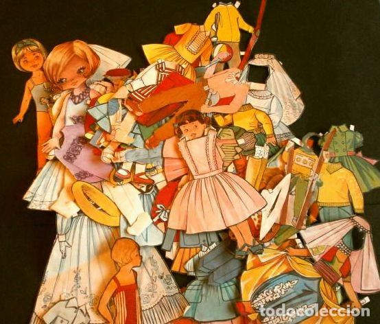 GRAN LOTE RECORTABLES DE MUÑECAS (AÑOS 50-60) MÁS DE 70 PIEZAS RECORTADAS DE VARIAS LÁMINAS (Coleccionismo - Recortables - Muñecas)