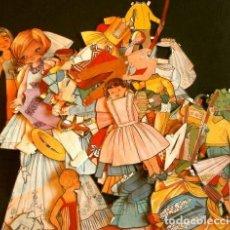 Coleccionismo Recortables: GRAN LOTE RECORTABLES DE MUÑECAS (AÑOS 50-60) MÁS DE 70 PIEZAS RECORTADAS DE VARIAS LÁMINAS. Lote 183720723