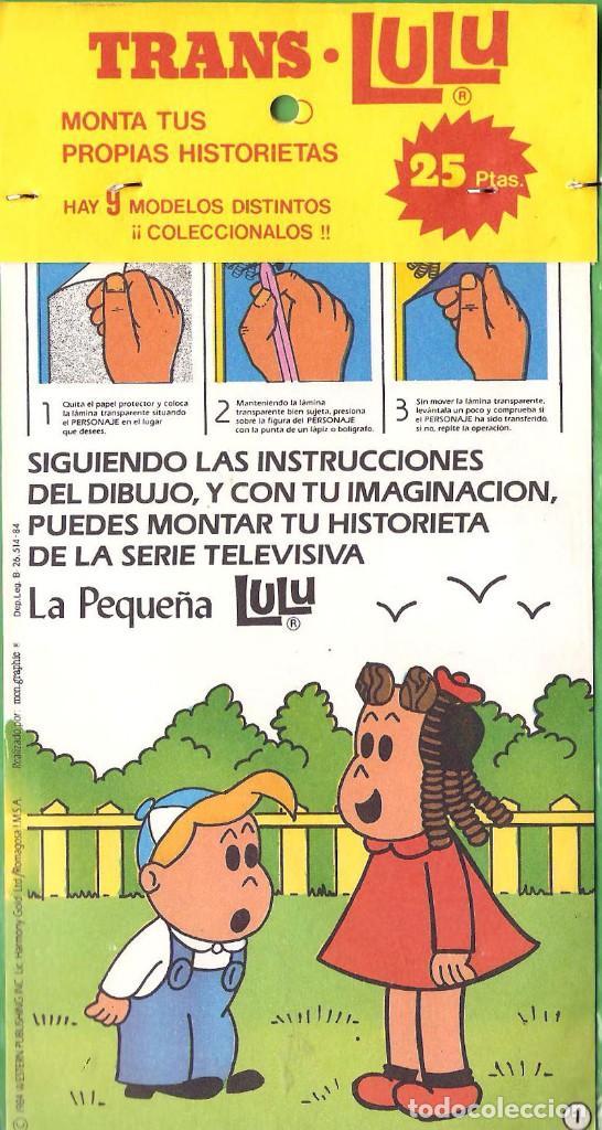 MONTA TUS PROPIAS HISTORIETAS CON LA PEQUEÑA LULU, CALCOMANÍAS, Nº 1, 2, 3 TROQUELADOS. 1984 (Coleccionismo - Recortables - Muñecas)