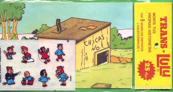 Coleccionismo Recortables: MONTA TUS PROPIAS HISTORIETAS CON LA PEQUEÑA LULU, CALCOMANÍAS, Nº 1, 2, 3 TROQUELADOS. 1984 - Foto 2 - 183726476