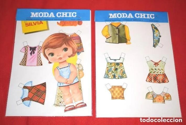 BLISTER MUÑECA RECORTABLE * MODA CHIC - SILVIA * EDITORIAL BEASCOA - AÑOS 70 - NUEVO - MODELO 1 DE 8 (Coleccionismo - Recortables - Muñecas)