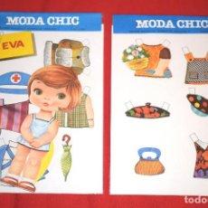 Coleccionismo Recortables: BLISTER MUÑECA RECORTABLE * MODA CHIC - EVA * EDITORIAL BEASCOA - AÑOS 70 - NUEVO - MODELO 2 DE 8. Lote 183865092