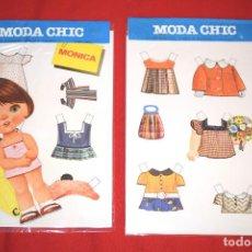 Coleccionismo Recortables: BLISTER MUÑECA RECORTABLE * MODA CHIC - MONICA * EDITORIAL BEASCOA - AÑOS 70 - NUEVO - MODELO 4 DE 8. Lote 183865297