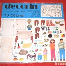 Collectionnisme Images à Découper: BLISTER * DECORIN * RECORTA, DISTRIBUYE Y PEGA TU COCINA * EDICIONES BAUSAN - AÑO 1980 - NUEVO!!. Lote 184054861