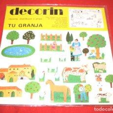 Coleccionismo Recortables: BLISTER * DECORIN * RECORTA, DISTRIBUYE Y PEGA TU GRANJA * EDICIONES BAUSAN - AÑO 1980 - NUEVO!!. Lote 184055307