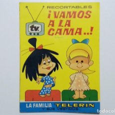 Coleccionismo Recortables: RECORTABLES ¡VAMOS A LA CAMA..! LA FAMILIA TELERÏN Y SUS VESTIDOS EDITORIAL BRUGUERA 1964. Lote 184074851