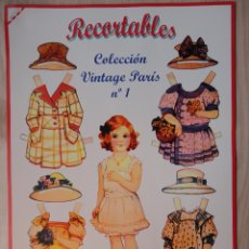Collezionismo Figurine da Ritagliare: COLECCIÓN DE 8 MUÑECAS RECORTABLES VINTAGE PARÍS .VER FOTOS .. Lote 184853678