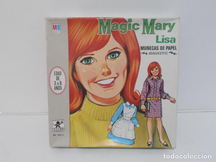 Coleccionismo Recortables: MAGIC MARY LISA, JUGUETES BORRAS, MAGNETIC MUÑECAS DE PAPEL EN CAJA COMPLETO AÑOS 70 - Foto 2 - 185332973