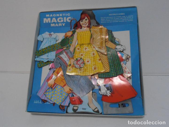 Coleccionismo Recortables: MAGIC MARY LISA, JUGUETES BORRAS, MAGNETIC MUÑECAS DE PAPEL EN CAJA COMPLETO AÑOS 70 - Foto 3 - 185332973