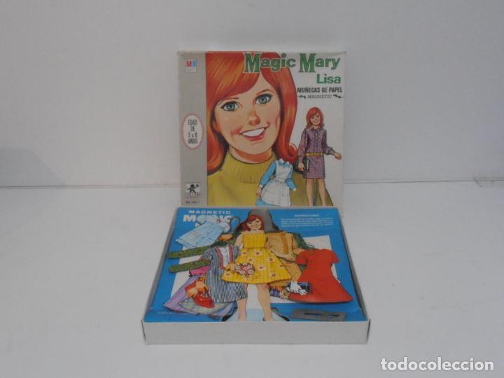 MAGIC MARY LISA, JUGUETES BORRAS, MAGNETIC MUÑECAS DE PAPEL EN CAJA COMPLETO AÑOS 70 (Coleccionismo - Recortables - Muñecas)