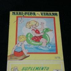 Coleccionismo Recortables: MARI-PEPA EN VERANO + SUPLEMENTO RECORTABLE POR EMILIA COTARELO - ILUSTRACIONES: MARIA CLARET -. Lote 186157630