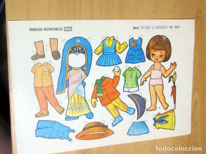 MUÑECAS RECORTABLES BOGA, SERIE MARY CARMEN, LOTE 60 ORIGINALES (Coleccionismo - Recortables - Muñecas)