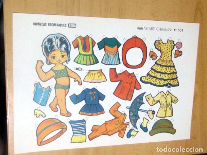 Coleccionismo Recortables: MUÑECAS RECORTABLES BOGA, SERIE MARY CARMEN, LOTE 60 ORIGINALES - Foto 4 - 186173396