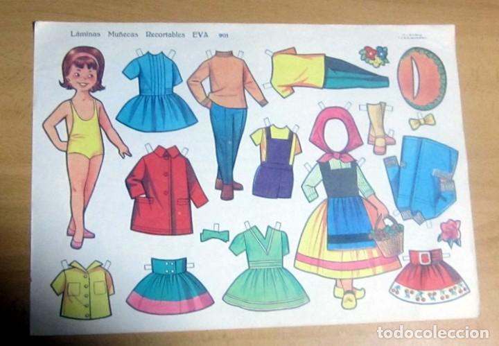 MUÑECAS RECORTABLES EVA , LOTE 4 DIFERENTES ORIGINALES (Coleccionismo - Recortables - Muñecas)
