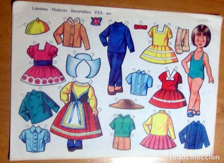 Coleccionismo Recortables: MUÑECAS RECORTABLES EVA , LOTE 4 DIFERENTES ORIGINALES - Foto 4 - 186175371