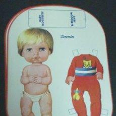 Coleccionismo Recortables: RECORTABLE BABY MOCOSETE MODELO DORMIR. Lote 187094748