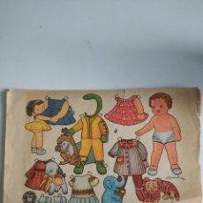 Coleccionismo Recortables: ANTIGUA LÁMINA DE MUÑECAS RECORTABLES DE ENRIQUETA BOMBÓN ED BRUGUERA ORIGINAL. Lote 190585988
