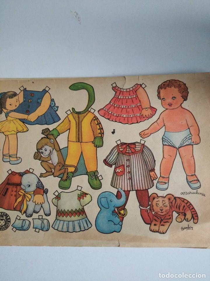 Coleccionismo Recortables: Antigua lámina de muñecas recortables de Enriqueta bombón Ed bruguera original - Foto 2 - 190585988