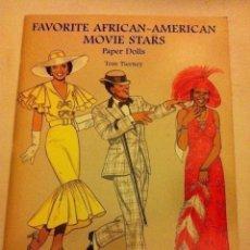 Coleccionismo Recortables: FAVORITE AFRICAN-AMERICAN MOVIE STARS - (PAPER DOLLS 1997)- MUY BIEN CONSERVADO- 23X 31 CM. Lote 190596626