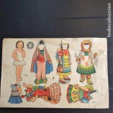 Coleccionismo Recortables: ANTIGUA MUÑECA RECORTABLE DE ENRIQUETA BOMBÓN ELIA ,ORIGINAL. Lote 190686450