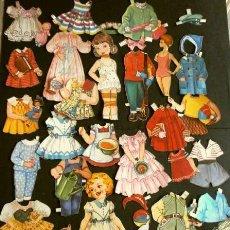 Coleccionismo Recortables: ANTIGUOS RECORTABLE DE MUÑECAS RECORTADO (AÑOS 30-40) ORIGINAL DE CARTÓN (RAROS) ROSITA - BOMBON. Lote 190781562