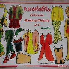 Coleccionismo Recortables: COLECCIÓN DE 8 RECORTABLES , MUÑECAS CLÁSICAS .VER FOTOS .. Lote 222655068
