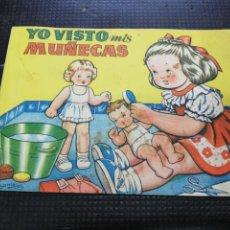 Coleccionismo Recortables: YO VISTO MIS MUÑECAS, COLECCIÓN MIS MUÑECAS, EDITORIAL BRUGUERA. Lote 193832633