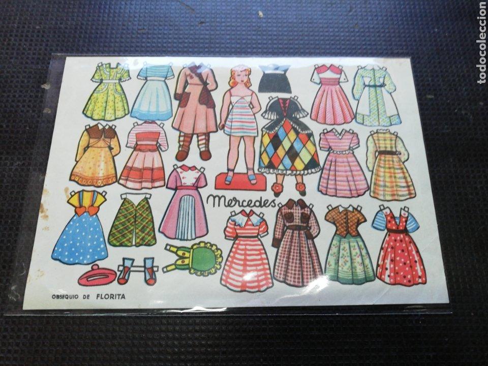 RECORTABLES OBSEQUIO E FLORITA, MERCEDES (Coleccionismo - Recortables - Muñecas)