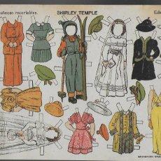 Coleccionismo Recortables: SHIRLEY TEMPLE-Nº 9 MUÑECAS RECORTABLES. EDICIONES TBO. 22X32 CM.. Lote 194222108