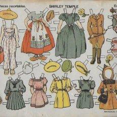 Coleccionismo Recortables: SHIRLEY TEMPLE Nº 1 MUÑECAS RECORTABLES .EDICIONES TBO. 22X32 CM.. Lote 194222240